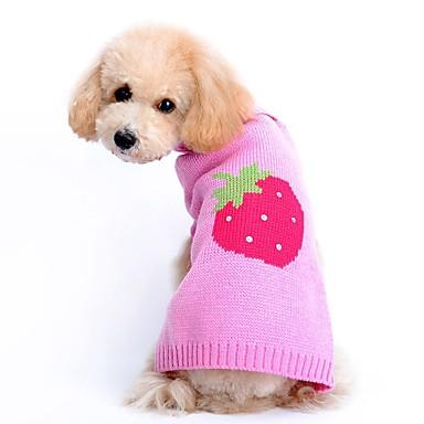 Kat Hond Truien Hondenkleding Schattig Casual/Dagelijks Fruit Roze Kostuum Voor huisdieren