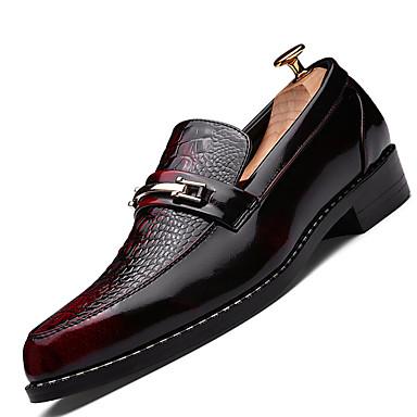 Masculino sapatos Courino Inverno Primavera Verão Outono Conforto Mocassins e Slip-Ons Cadarço para Casual Preto Vermelho Bronze