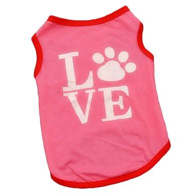Gato Cachorro Camiseta Colete Roupas para Cães Fofo Férias Casual Aniversário Mantenha Quente A prova de Vento Fashion Esportes Amor Rosa