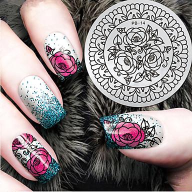 1pcs Plantilla de estampado de uñas Diario Moda Alta calidad