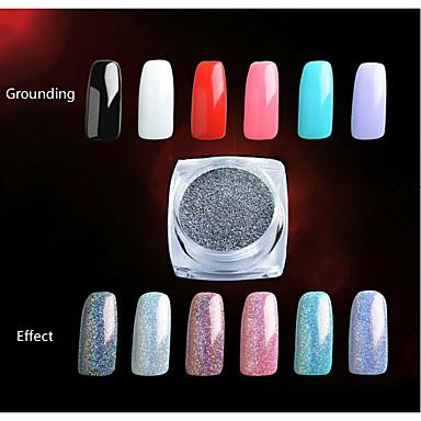 1 pcs Glitter y Poudre / Polvo Glitters / Clásico / Neón y brillante Diario / Reluciente