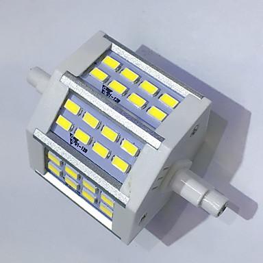 400lm R7S LED-kornpærer T 24LED LED perler SMD 5730 Dekorativ Varm hvit / Kjølig hvit 85-265V