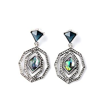 女性用 合成ダイヤモンド ドロップイヤリング - ボヘミアンスタイル, 欧風, ファッション シルバー 用途 パーティー / 日常 / カジュアル