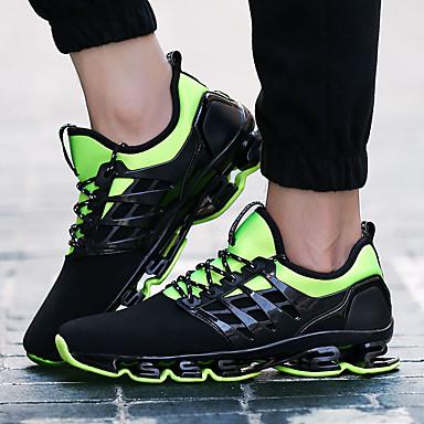 Unisex Schuhe PU Frühling Herbst Komfort Sneakers Flacher Absatz Schnürsenkel für Normal Schwarz Rot Grün