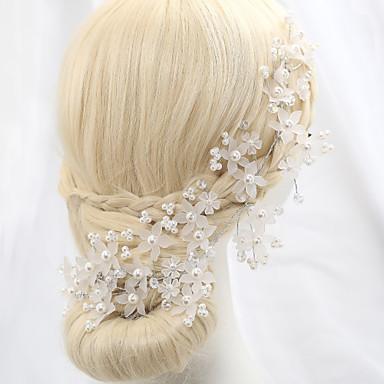 billige Hodeplagg til fest-Krystall / Imitert Perle / Legering blomster med 1 Bryllup / Spesiell Leilighet / utendørs Hodeplagg