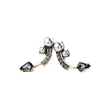 女性用 スタッドピアス ジュエリー ファッション 人造真珠 欧風 合金 幾何学形 ジュエリー パーティー 日常 カジュアル コスチュームジュエリー