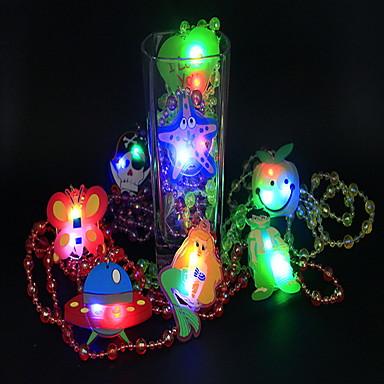 LED-verlichting Oplichtend speelgoed Speeltjes Kettingen Valaistus PVC Kinderen Stuks