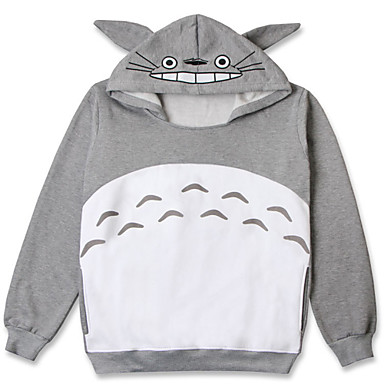Cosplay Puvut Innoittamana Naapurini Totoro Nazrin Anime Cosplay-Tarvikkeet Pusero Harmaa Puuvilla Unisex