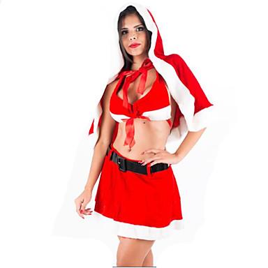 Joulupukki-asu Juhla-asu Naiset Joulu Karnevaali Uusi vuosi Festivaali/loma Halloween-asut Patchwork