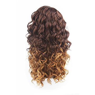 ny stil brunt hår blonder foran løs bølge syntetisk hår blonde parykker
