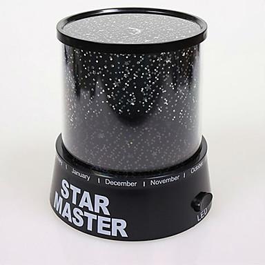 Uusi kuuma romanttinen johti tähtikirkas yötaivas projektorin lamppu lasten lahja tähti master valo