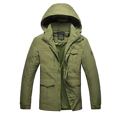 Homens Jaqueta Softshell de Trilha Térmico/Quente Vestível Jaquetas Softshell para Acampar e Caminhar Inverno XL XXL XXXL XXXXL