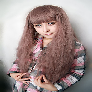 Vrouw Synthetische pruiken Zonder kap Kinky Curly Beige Cosplaypruik Kostuumpruiken