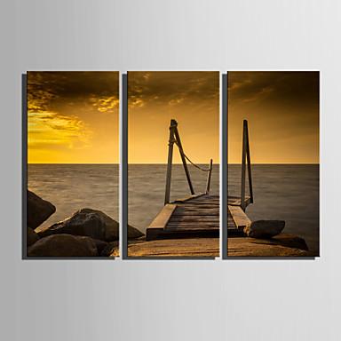 Paisagem Impressão em tela 3 Painéis Pronto para pendurar , Vertical