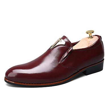 Oxford-kengät-Tasapohja-Miesten-Mikrokuitu-Musta Valkoinen Burgundy-Rento-Comfort