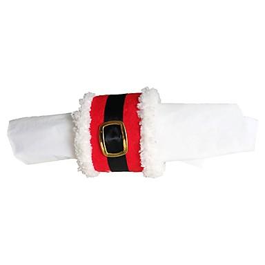 1kpl joulukoristeen joulu vyön solki lautasliinarengas