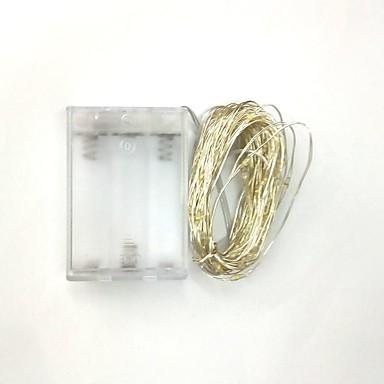 5 m Cuerdas de Luces 50 SMD LED Blanco Cálido / Blanco / Rojo Impermeable 4.5 V / IP65