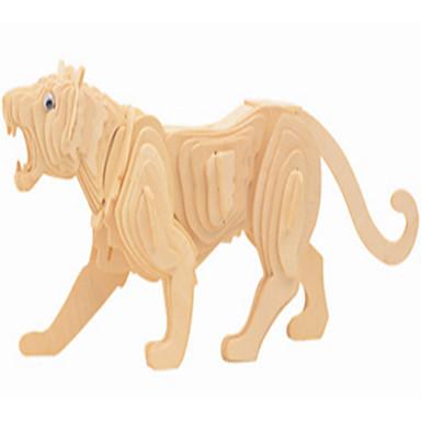voordelige 3D-puzzels-Houten puzzels Draak Tiger professioneel niveau Hout 1 pcs Jongens Meisjes Speeltjes Geschenk