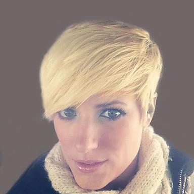 onda natural, perucas de cabelo humano curtas para mulher