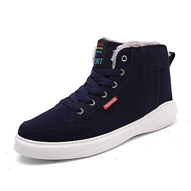 Herre sko Semsket lær Vår Høst Vinter Komfort Trendy støvler Støvler Til Avslappet Svart Mørkeblå Mørkegrønn