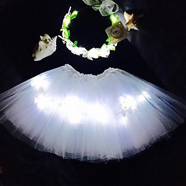 白い天使がチュチュを点灯主導しました&ヘッドバンドはkidsgirlsadultshalloween coustumechristmas giftraveチュチュsetcoachellaに設定されました