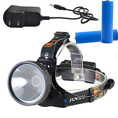 ヘッドランプ LED lm 3 モード - チャージャー付き 充電式 調光可能 ハイパワー スーパーライト キャンプ/ハイキング/ケイビング 日常使用 サイクリング 狩猟 屋外 登山 多機能 ワーキング 旅行 釣り