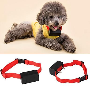 お買い得  ハンティング&ネイチャー-犬 樹皮の首輪 アンチ犬叫 電子 / エレクトリック バイブレーション ソリッド ナイロン レッド
