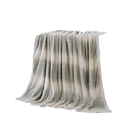 Flanelli Harmaa,Kuvioton Kuvioton 100% polyesteri peitot 200x230cm