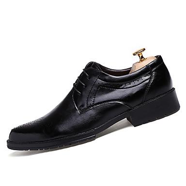 メンズ 靴 レザーレット 春 秋 コンフォートシューズ オックスフォードシューズ 編み上げ 用途 カジュアル ブラック レッド