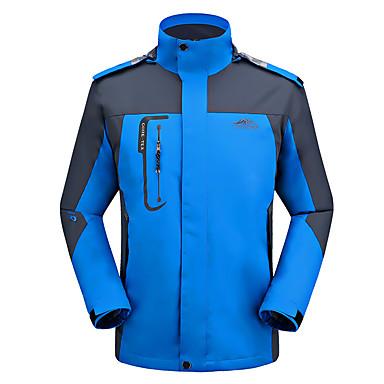 Homens Jaqueta de Trilha Prova-de-Água Térmico/Quente A Prova de Vento Resistente Raios Ultravioleta Confortável Jaquetas Softshell Blusas