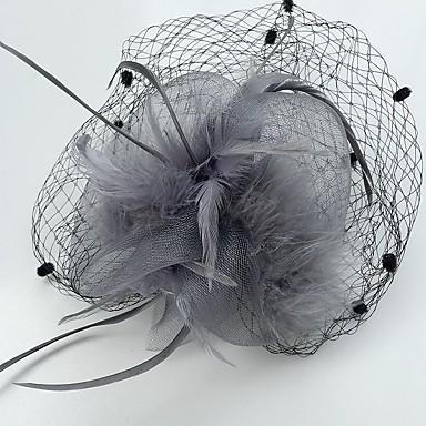 Pena Rede Fascinadores 1 Casamento Ocasião Especial Casual Capacete