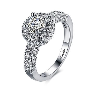 女性 指輪 婚約指輪 ぜいたく 幸福 恋 銅 18K 金 イミテーションダイヤモンド ジュエリー 結婚式 パーティー 婚約 日常 カジュアル