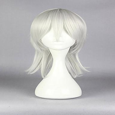 女性 人工毛ウィッグ キャップレス ストレート シルバー コスプレ用ウィッグ コスチュームウィッグ