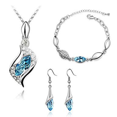 Dames Sieraden Set Kristal Modieus Dagelijks Oorbellen Kettingen Armband
