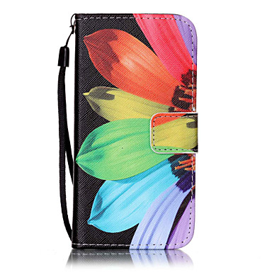 Funda Para Apple iPhone 7 / iPhone 6 / Funda iPhone 5 Cartera / Soporte de Coche / con Soporte Funda de Cuerpo Entero Flor Dura Cuero de PU para iPhone 7 Plus / iPhone 7 / iPhone 6s Plus