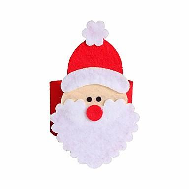 4 Stück Weihnachten Weihnachtsmann Serviettenring Serviettenhalter Tisch Weihnachtsdekoration Restaurant