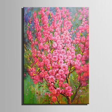 Hang malte oljemaleri Håndmalte - Blomstret / Botanisk Moderne / Europeisk Stil Lerret / Valset lerret