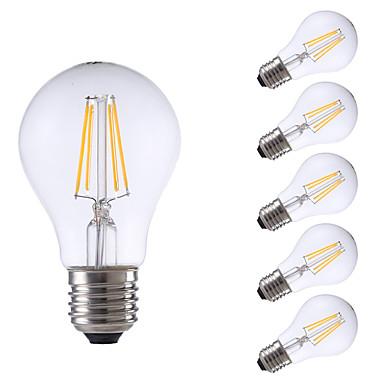 GMY® 6pcs 550/400lm E26 / E27 LED-glødepærer A60(A19) 4 LED perler COB Mulighet for demping Varm hvit Kjølig hvit 220-240V