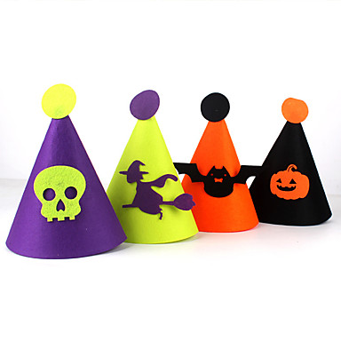 Chapéu (cor aleatória) hallowmas 1pc decorar hallowmas festa à fantasia