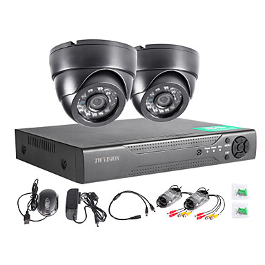 twvision 4chのHDMI 960H CCTV DVRのビデオ監視レコーダー1000tvlドームカメラCCTVシステム