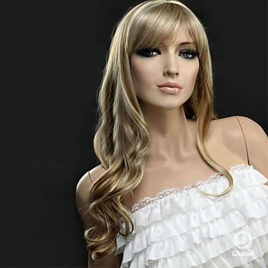 Synteettiset peruukit Laineita Synteettiset hiukset Vaaleahiuksisuus Peruukki Naisten Pitkä Suojuksettomat