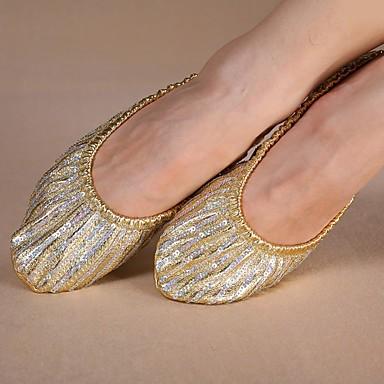 Dames Modern Canvas Platte schoenen Oefenen Platte hak Gouden Niet aanpasbaar