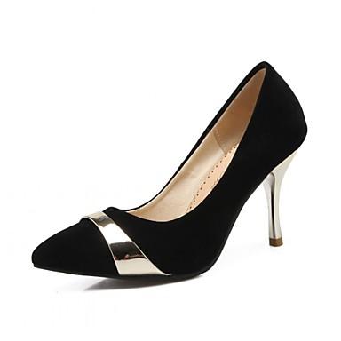 Mujer Zapatos Semicuero Primavera / Verano Confort Tacones Paseo Tacón Stiletto Dedo Puntiagudo Hebilla Dorado / Plata / Boda Site Officiel 44PXP