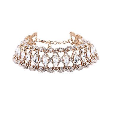 Halskjeder Diamant Smykker Bryllup Euramerican Legering Dame 1 stk Gave Sølv