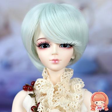 Naisten Synteettiset peruukit Suora Sininen Bob-leikkaus Doll Wig puku Peruukit