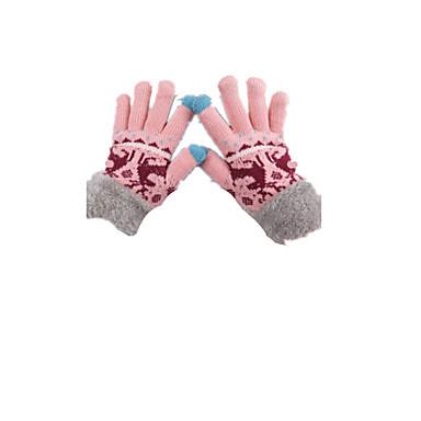 ノート - カラーピンクカシミヤ厚く暖かい指