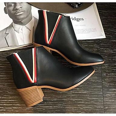 Naiset Kengät PU Comfort Bootsit Käyttötarkoitus Kausaliteetti Musta Harmaa Vihreä