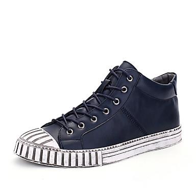 Miehet kengät Tekonahka Kevät Kesä Syksy Talvi Comfort Lenkkitossut Käyttötarkoitus Kausaliteetti Musta Sininen