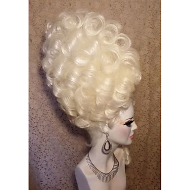 Synteettiset peruukit Löysät aaltoilevat Luonnollinen hiusviiva 100% kanekalon-hiuksia Naisten Full Lace Drag queen -peruukki