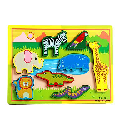 voordelige 3D-puzzels-Legpuzzel / Educatief speelgoed Olifant / Stier / Paard Noviteit Hout Jongens / Meisjes Geschenk